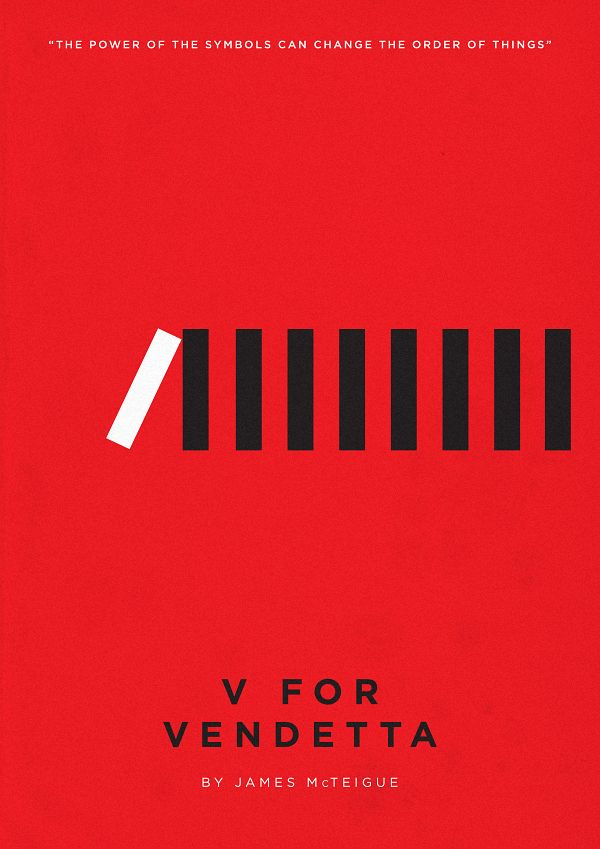 V for Vendetta (2005) ~ Minimalist Movie Poster by Eder Rengifo