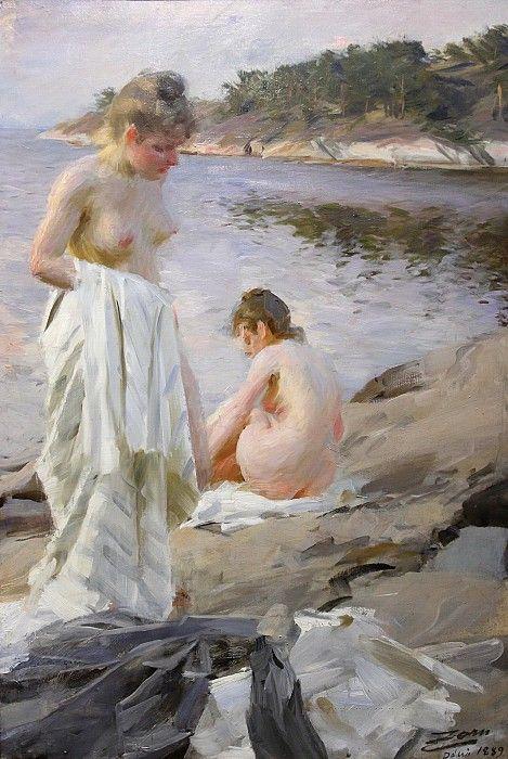 Картинки по запросу anders leonard zorn - les baigneuses giclee on canvas