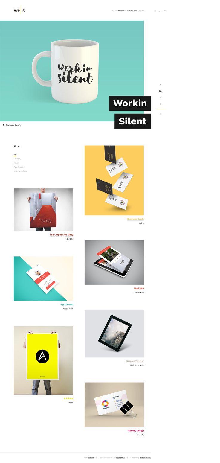 Wert PSD - Minimal Unique Portfolio by IshYoBoy on Creative Market