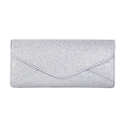 New Trending Clutch Bags: Premium Large Metallic Glitter Envelope Flap Clutch Evening Bag, Silver. Premium Large Metallic Glitter Envelope Flap Clutch Evening Bag, Silver   Special Offer: $14.95      233 Reviews This high quality large evening clutch is both simple and stylish. Envelope style, metallic color with sparkling accents to create the unique party look. Fully lined with...