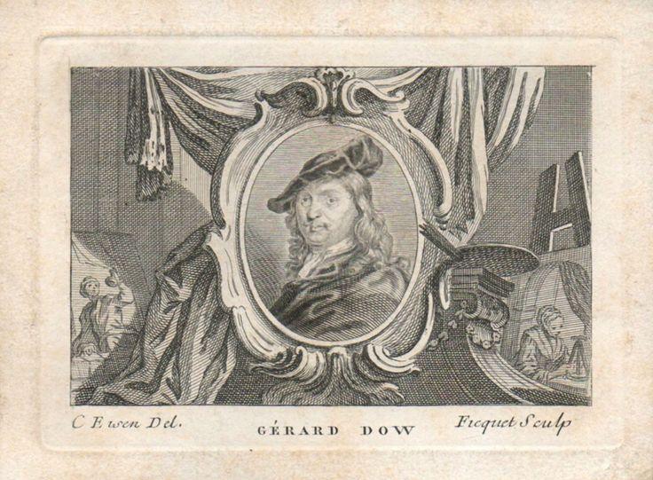 Étienne Ficquet Charles Dominique Joseph Eisen: Portrait de Gérard Dou. 18e eeuw. Bibliothèque de l'INHA, Paris.