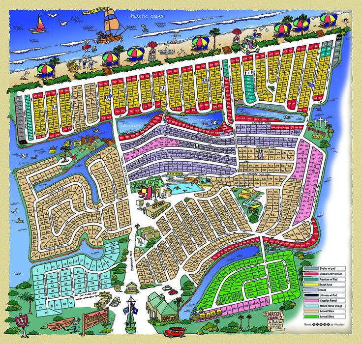 Park Map Pirateland Family Camping Resort Campout