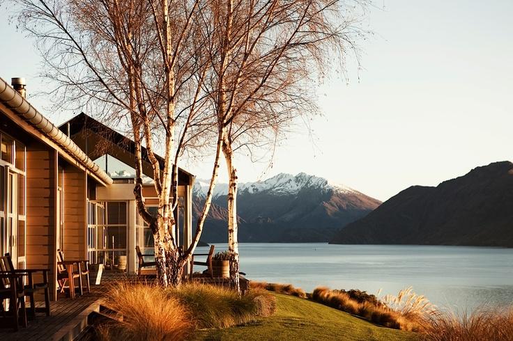 Autumn at Whare Kea Lodge, Lake Wanaka, New Zealand. Photo by Kieran Scott