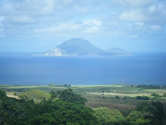 St. Kitts, great view after climbing the volcano