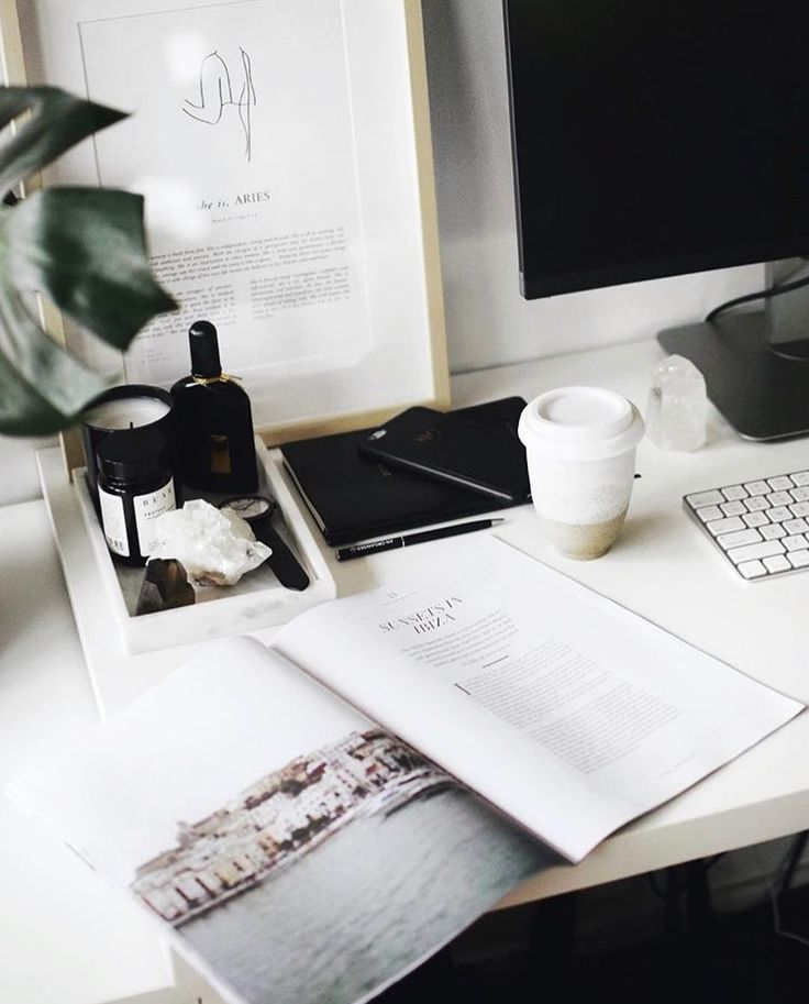 A perfect Wednesday morning desk situation ☕️ 🍃 featuring our current #ACCMAG | A Conscious Collection | Instagram