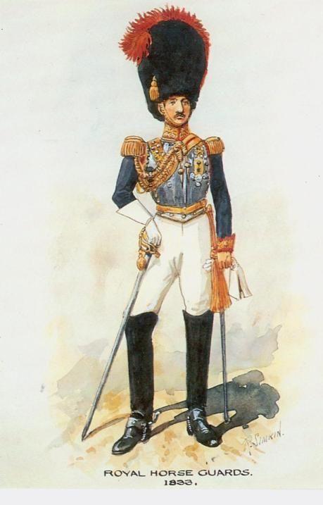 British; Royal Horse Guards, 1833 by R.Simkin