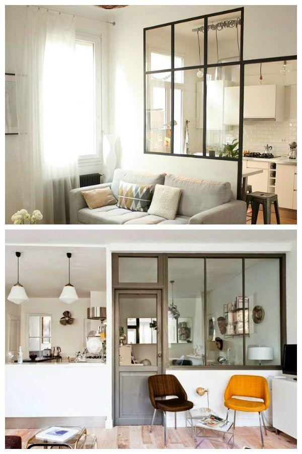 Risultati immagini per cucina a vista vetro ferro bancone ...