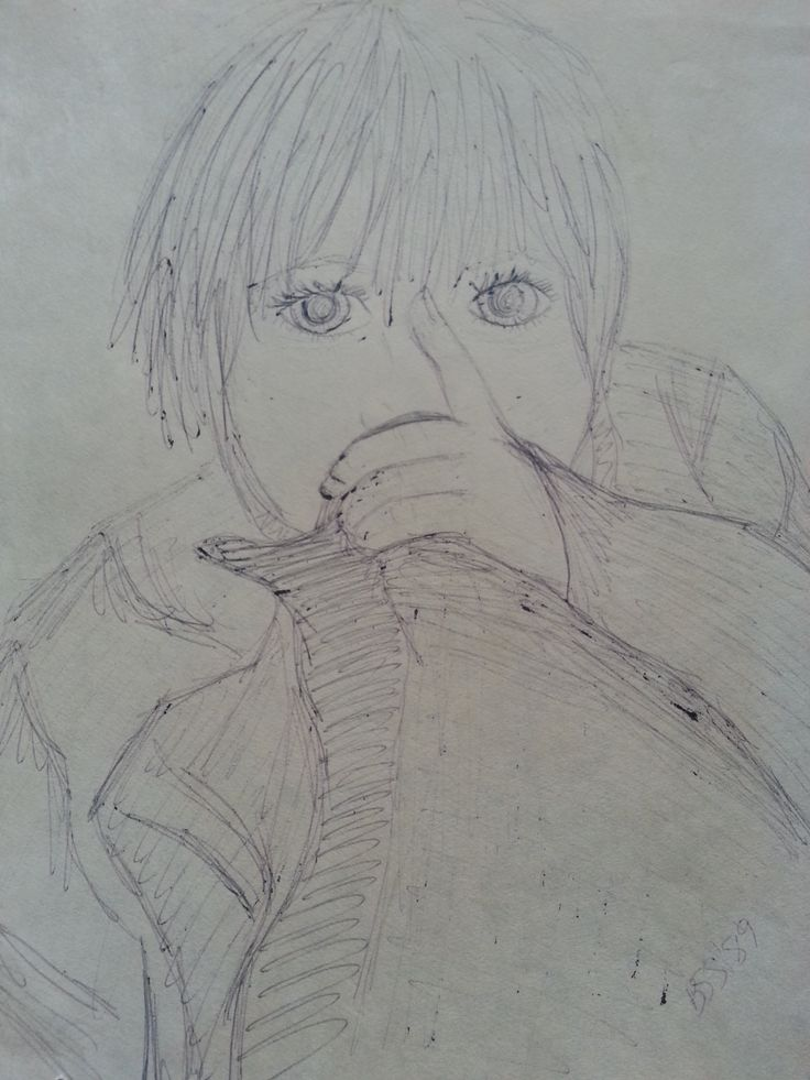 Quick sketch with ballpoint pen by BSStrocen