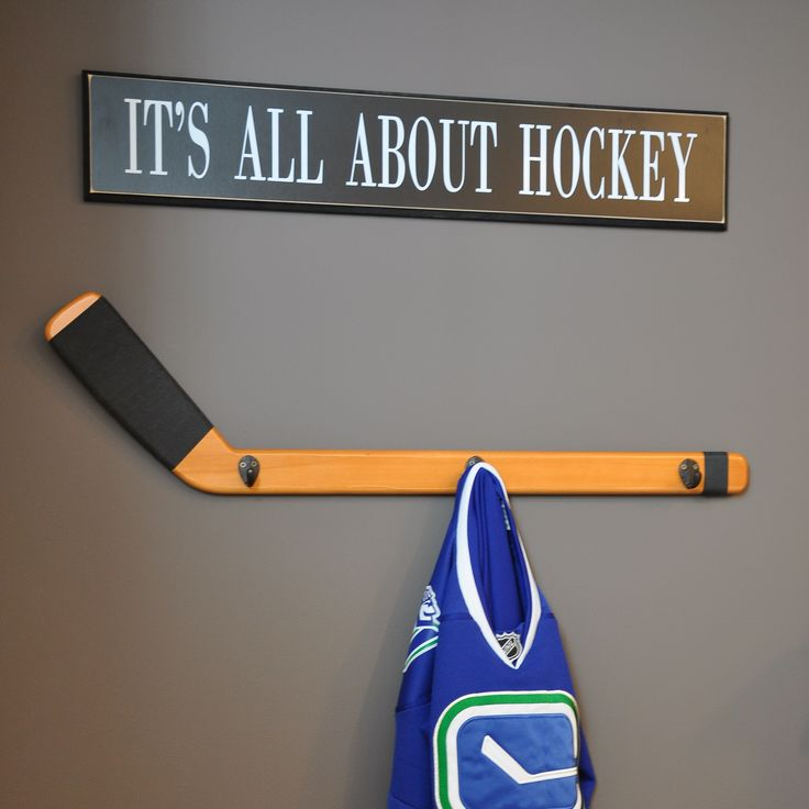 Cute hockey stick coat hanger boys rooms pinterest Cute coat hooks