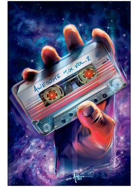 Awesome Mix Vol2 Guardians Of The Galaxy 18x24 Edtn 50 Fandoms