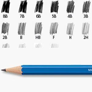 Escala de graduação dos lápis Staedtler