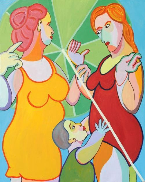 """Twan de Vos, """"Zomerpassie""""  100 x 80 cm; acryl op linnen."""