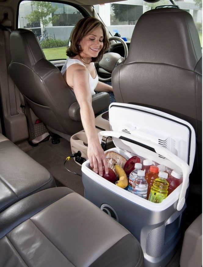 Mini fridges for your car or truck! These are powered by your car's cigarette lighter, no extra power source required.