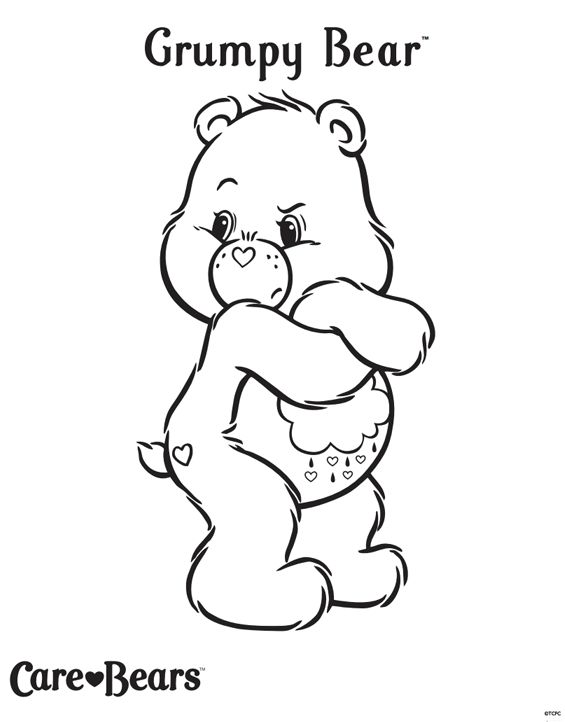 coloring pages of grumpy bear - photo#5