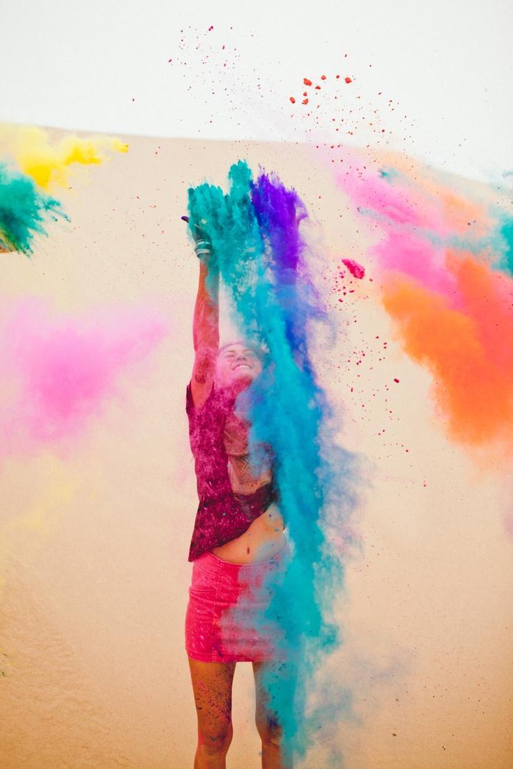 Holi paint powder! I really want to play :) kariejamison.com