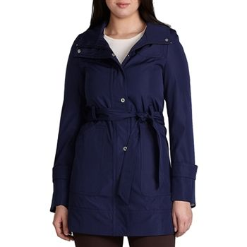 Calvin Klein Women's Women's Navy Blue Hooded Rain Coat. SHOP IT NOW