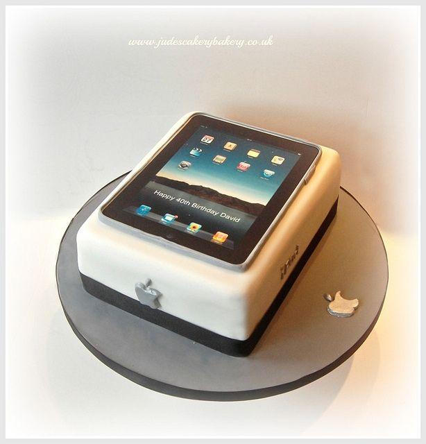 iPad Birthday Cake by Jude's Cakery Bakery: Bake Cakes, Ipad Gaming Cakes, Ipad Cake, Adult Cakes, Google Search, En Cupcake, Apple Cakes, Fondant Cakes, Birthday Cakes