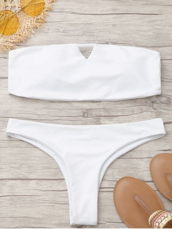 fdb2466d88b04 Up to 80% OFF! Thong Padded Bandeau Bikini. #Zaful #Swimwear #Bikinis  zaful,zaful outfits,zaful dresses,spring outfits,summer dresses,Valentine's  Day,easter ...