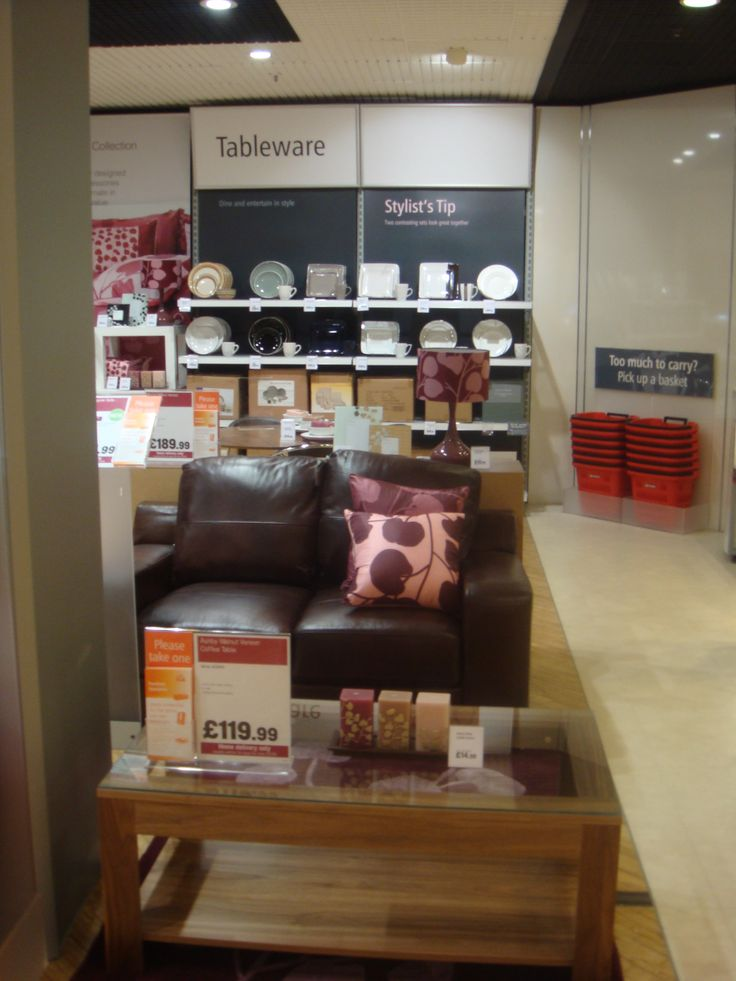 Argos homewares project gateshead visual merchandising lifestyle furniture room setting