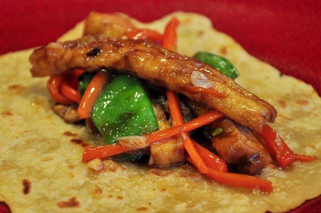 Moo Shu Pancakes, Szechuan Eggplant with Sesame-Fried Rice (w/recipes)