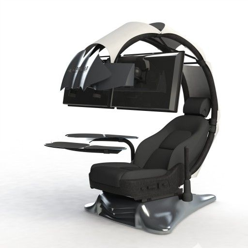 THE FUTURE OF COMPUTER WORKSTATIONS The Droian is the ultimate ergonomic computer workstation that provides a comfortable, immersive, and aesthetically unique environment for users who spend many hours in front of their computers.   Arriving mid-August 2016