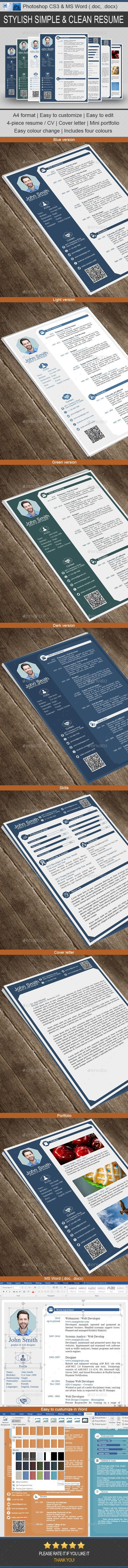 Resume — Photoshop PSD #simple resume #job • Available here → https://graphicriver.net/item/resume/14882309?ref=pxcr
