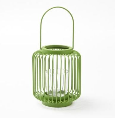This lantern candle holder would look nice hung up or sitting on a patio table. The bright colours really make it stand out!