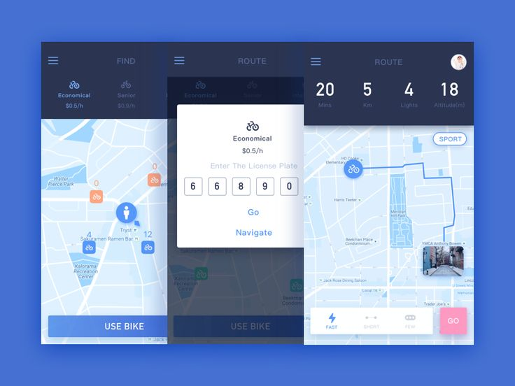 Sharing bike and navigatie by Yjjj #Design Popular #Dribbble #shots