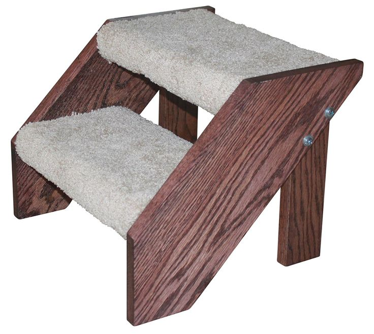 Premier Pet Steps Tall Open Riser Steps, Carpeted Tread with a Rich Cherry Stain 12-Inch   : Cats furniture
