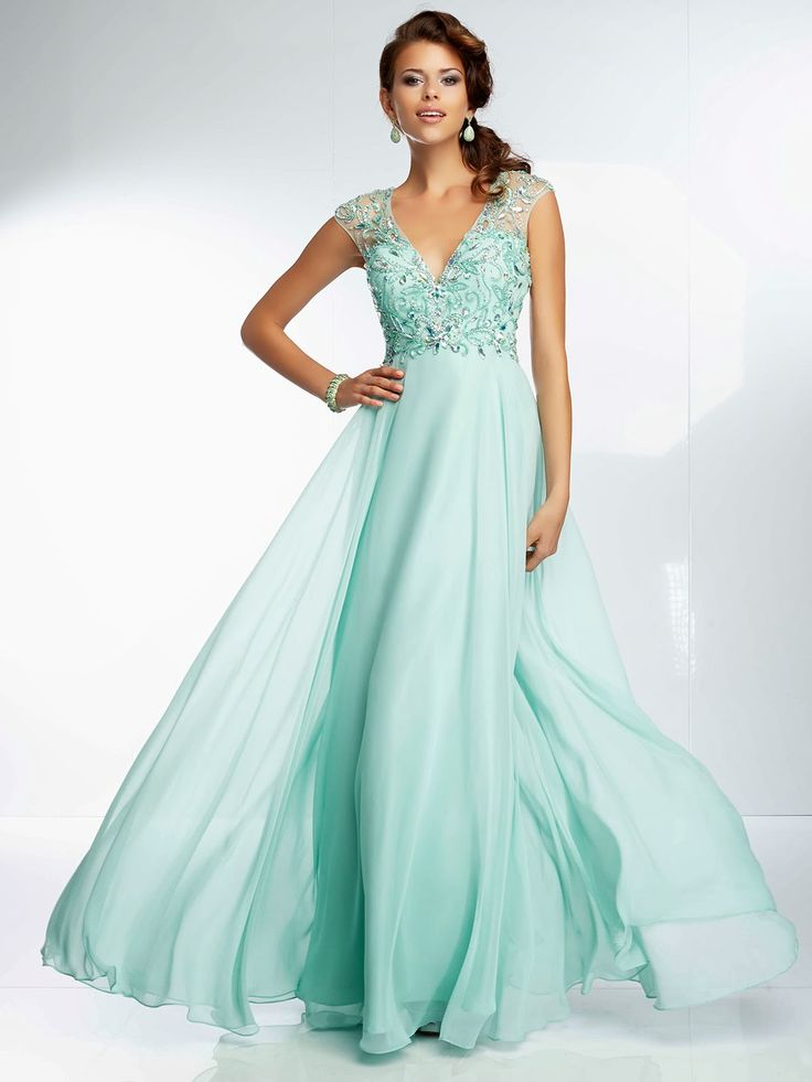Teal Long Prom Dress