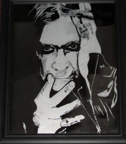 Excited to share the latest addition to my #etsy shop: Ozzy Osbourne on 8x10 framed mirror http://etsy.me/2F55sz2 #art #mixedmedia #ozzyosbourne #music #heavymetal #princeofdarkness #mirror #etching #glass