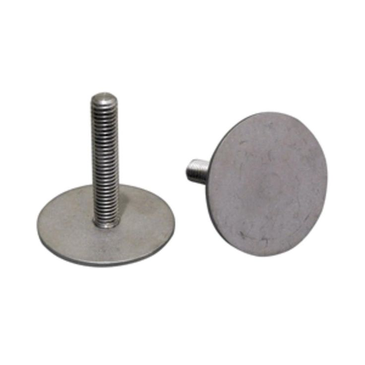 Weld Mount 1.5 Tall Stainless Stud w-5-16 x 18 Threads - Qty. 5. 1.5 Tall Stainless Stud w/5/16 x 18 ThreadThe HS200 stud is designed for heavy load applications such as mounting filters and panels.  Thestud is inertial (friction) welded to a 2 base plate creating a very strong part.  Manufactured of 304 stainless steel.  Tensile strength is approximately 1,200 lbs. and shear strength is 1,500 lbs. Weld Mount 1.5 Tall Stainless Stud w/5/16 x 18 Threads - Qty. 5Condition : This item is brand…