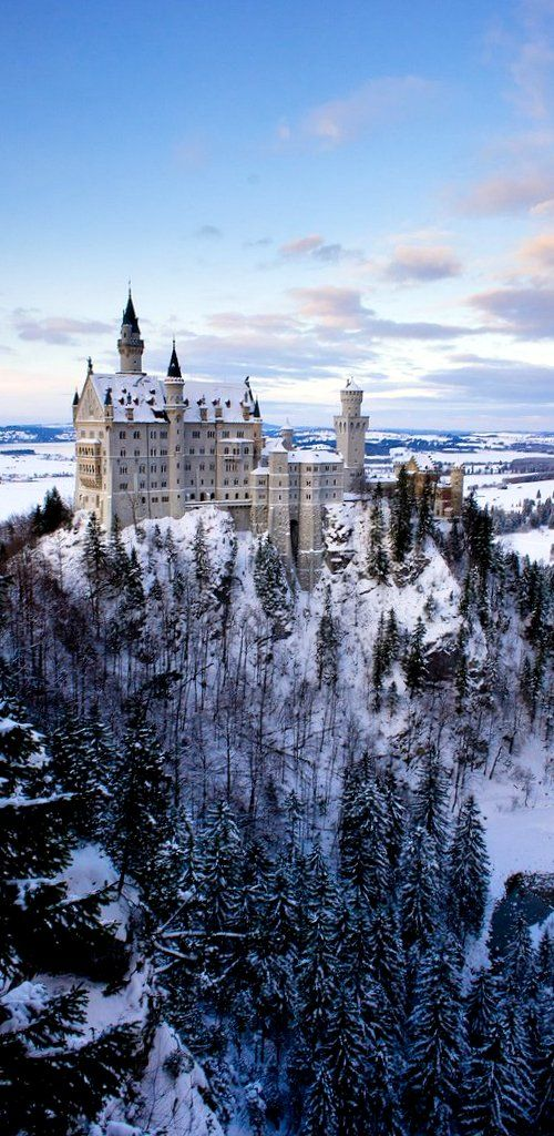 Winter at Neuschwanstein Castle, Germany (by Withered Bliss on Flickr) I have been here! Such a beautiful castle