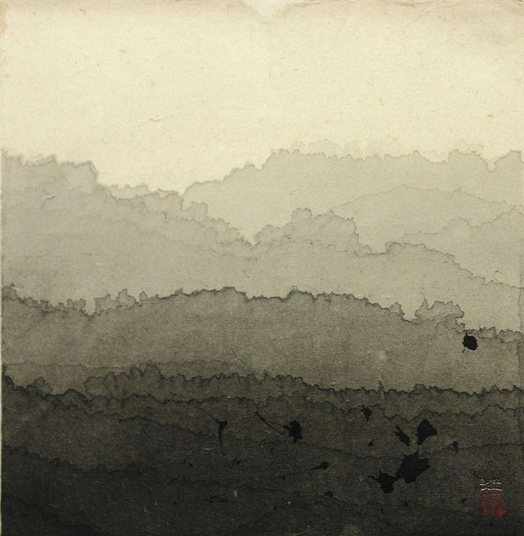 Title: Landscape Artist: Minjung Kim (1962, Korean) Year: 2002 Materials/Techniques: Ink on rice paper #art