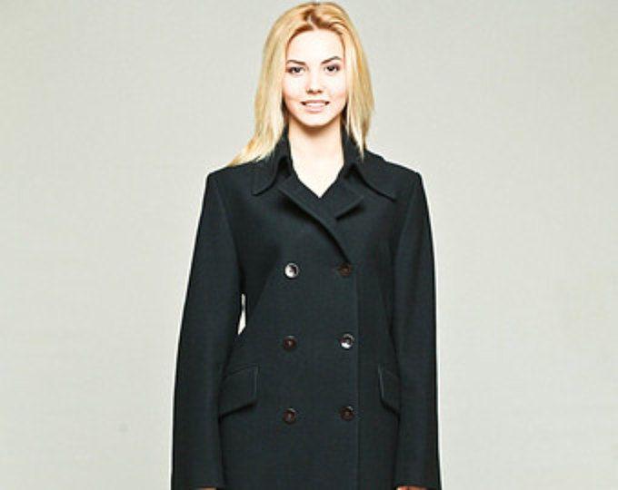 red wool coat ruffle coat romantic coat double breasted coat