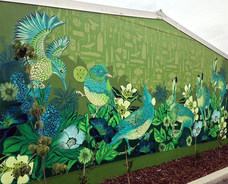 Flox ~ SPECTRUM 2015   Christchurch Street Art Fest