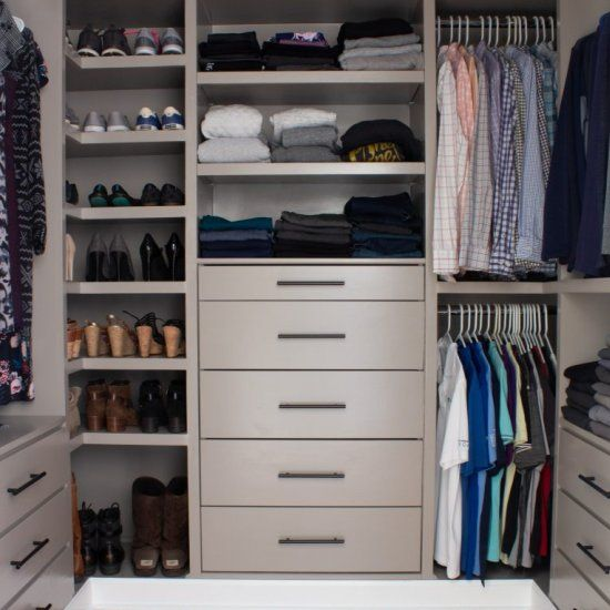 Diy Custom Closet That Is Built Using Ikea Tarva And Ikea Ivar Chest Of Drawers Find The Tutorial On The Blo In 2020 Diy Custom Closet Closet Renovation Closet Layout