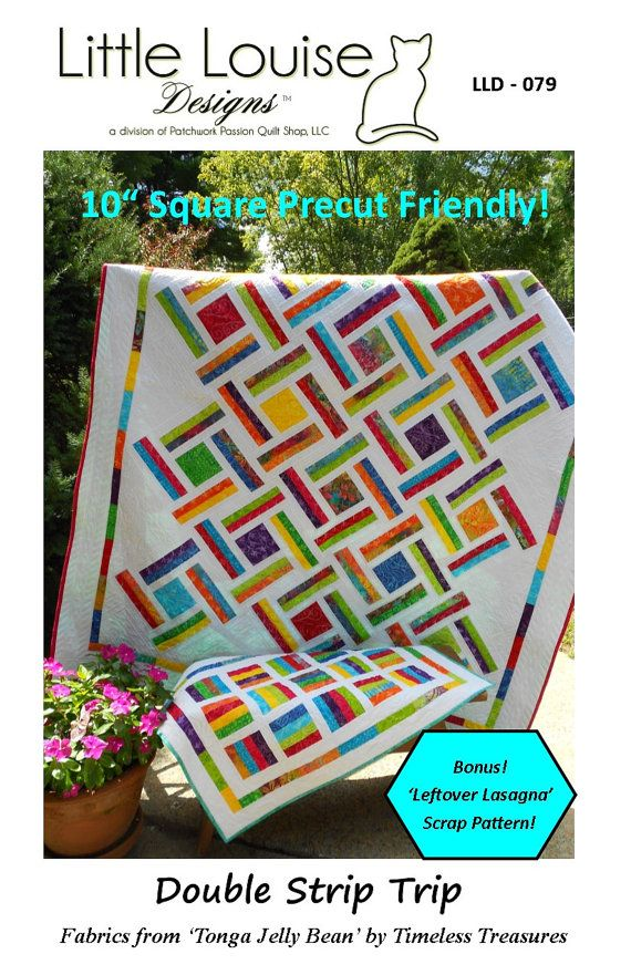 Layer Cake Quilt Pattern   Double Strip Trip by LittleLouiseQuilts