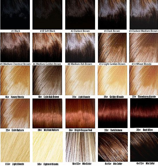 brown hair samples | ... hair coloring. Unique colors that do not include in this color sample