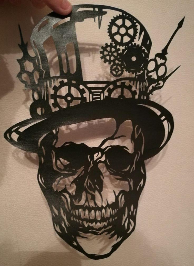 Steampunk skull design by Wildchild Designs and handcut by myself.