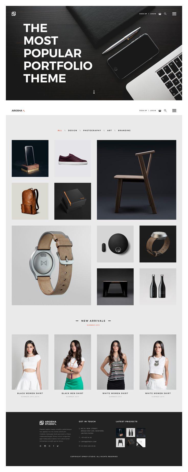 Arosha - Creative Minimal Shop PSD Template - PSD Templates   ThemeForest