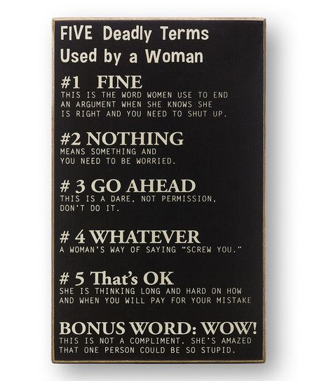 'Five Deadly Terms' Sign