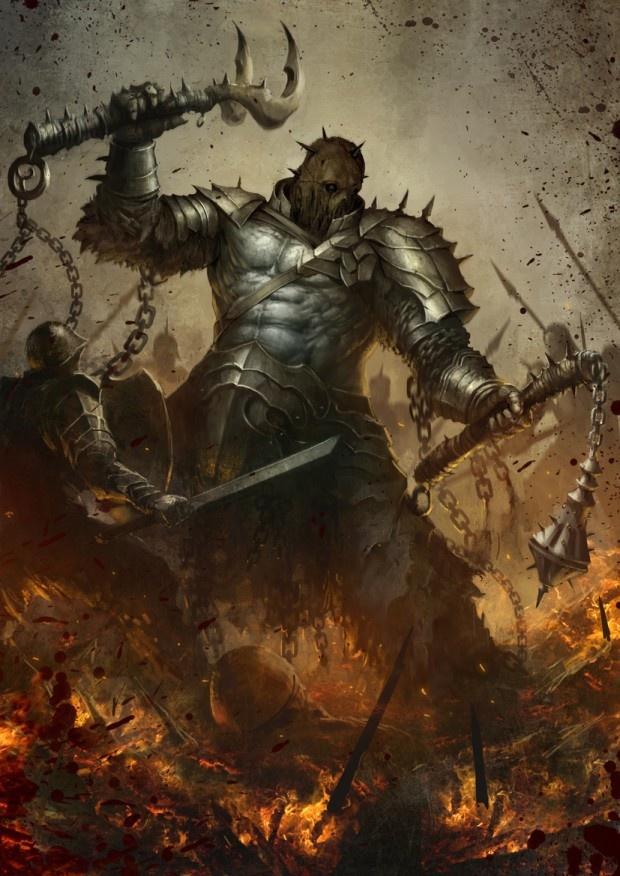 Hooded Dark Warrior Da...