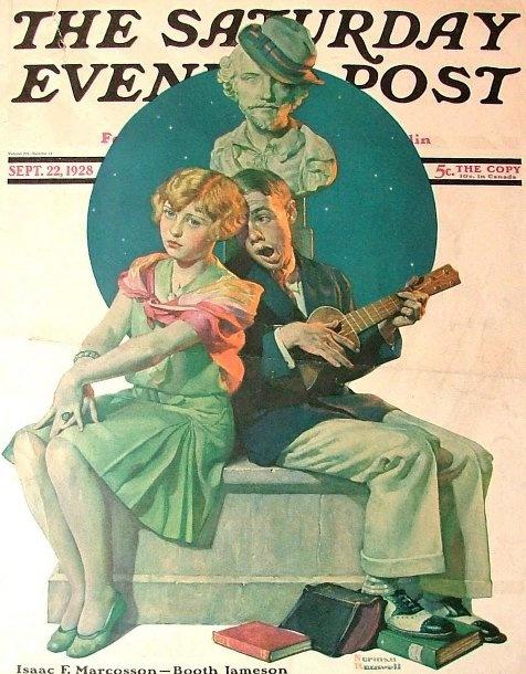 Norman Rockwell.Moon Light, Serenade, Rockwell Art, Artnorman Rockwell, Artists Norman, Art Norman Rockwell, Art Prints, Saturday Evening Post, Post Covers