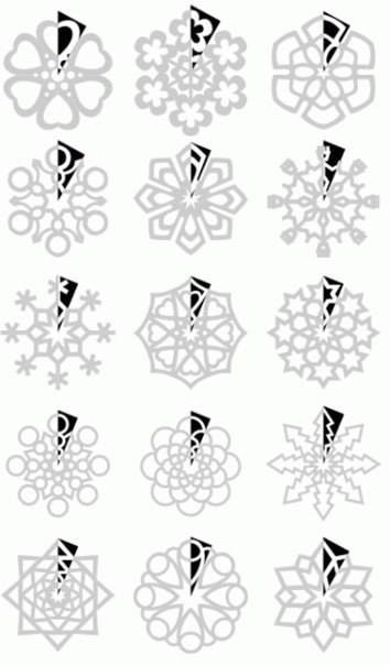 How to cut snowflakes. The surprise of not knowing how it's going to look is fun but this is cool if you really want to make intricate ones!