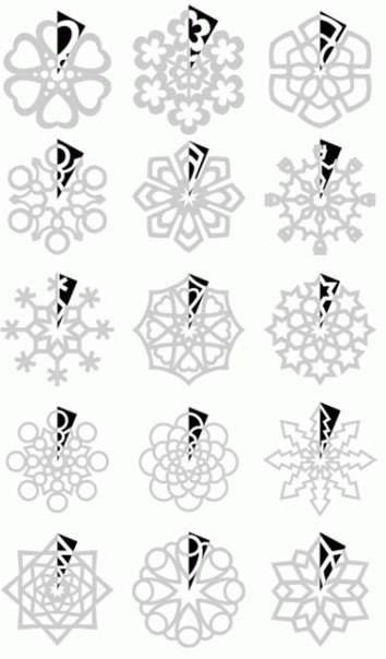 Patrons de flocons de neige.