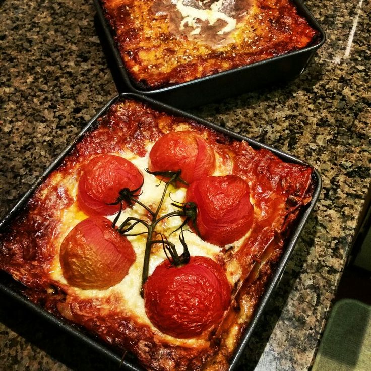 #dinner #lasagne #roma #tomatos