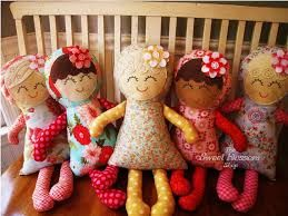 vintage rag doll patterns free download - Google Search