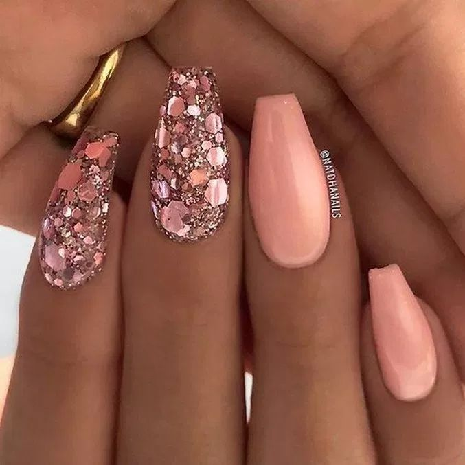 55 beautiful nail art designs for coffin nails 42 | shadow.com