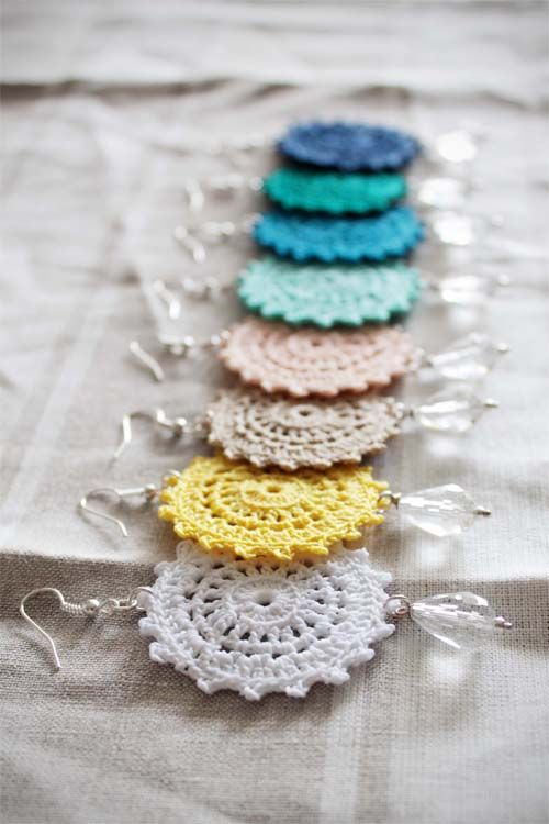 BRIDESMAIDS crocheted earrings by Perle di cotone